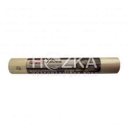 Бумага пергаментная PRO-1300 белая 50м*38см рулон силикон д/выпечки - 1