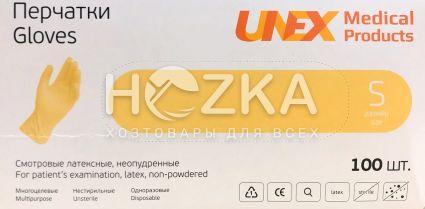 Перчатки латексные UNEX 100 шт. S - 1