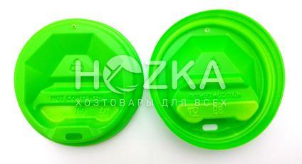 Крышка пластиковая U д/бум. стакана 89 (50 шт) зелёная