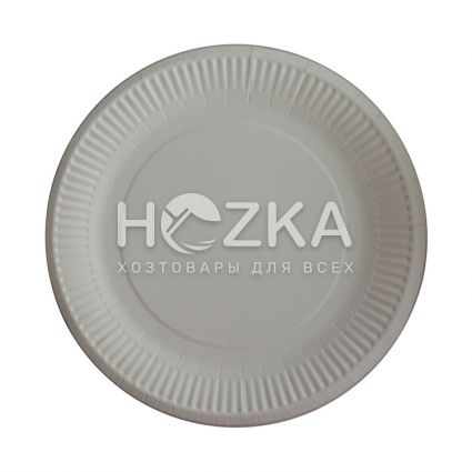 Тарелка бумажная круглая 230 мм 100 шт/уп - 1