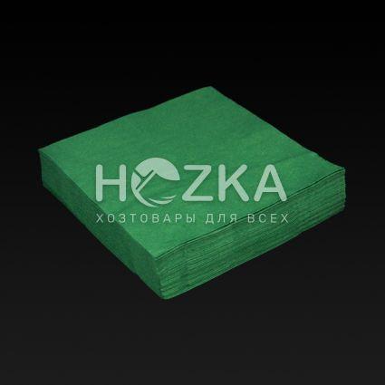Салфетки 33*33 2 слоя, зеленый 100 шт - 2
