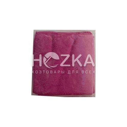 Салфетка микрофибра Сlean Up универс розовая 30х30 см 5шт - 2