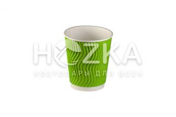Стакан гофрированный U 175мл 30шт зелений S