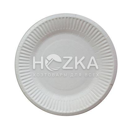 Тарелка бумажная круглая 180 мм 100 шт/упак. - 1