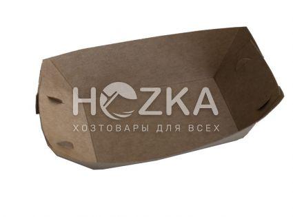 Тарелка Лодочка крафт ЕКО лам 195*135 100шт/уп - 5