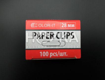Скрепка металлическая 28 мм С - 1