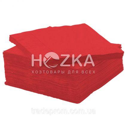 Салфетки 33*33 2 слоя красные 250 шт - 1