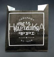 Пакет крафт для картофеля ФРИ 110*100 (4,5*4,5), (100шт)