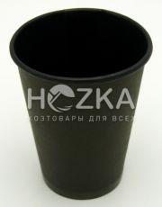 Стакан однослойный чёрный внутри и снаружи 400 мл/50 шт (крышка 90)