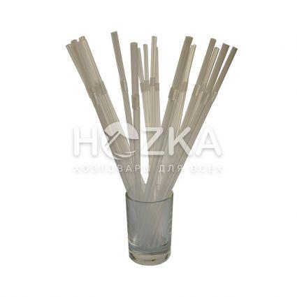 Трубочки с гофром прозрачные 21 см 200 шт - 2