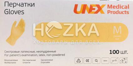 Перчатки латексные UNEX 100 шт. M - 1