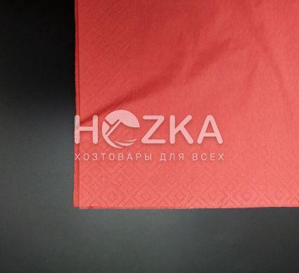 Салфетки 33*33 2 слоя красные 200 шт - 2
