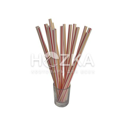 Трубочки Фреш полосатые прямые d-6,8 21 см 500 шт - 2