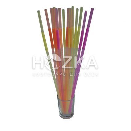 Трубочки с длинным гофром 27 см 100 шт - 2