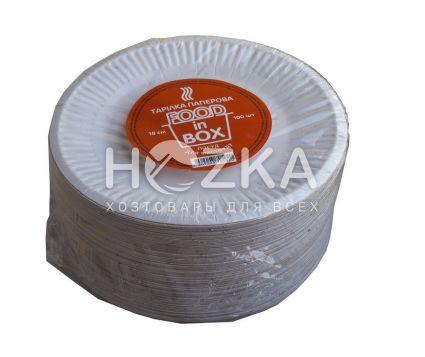 Тарелка бумажная круглая 180 мм 100 шт/упак. - 3