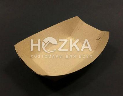 Тарелка Лодочка крафт ЕКО лам 215*145 100 шт/уп - 1