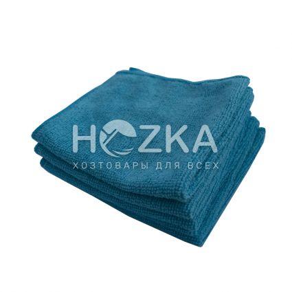 Салфетка микрофибра Сlean Up универс синяя 30х30 см 5шт - 1