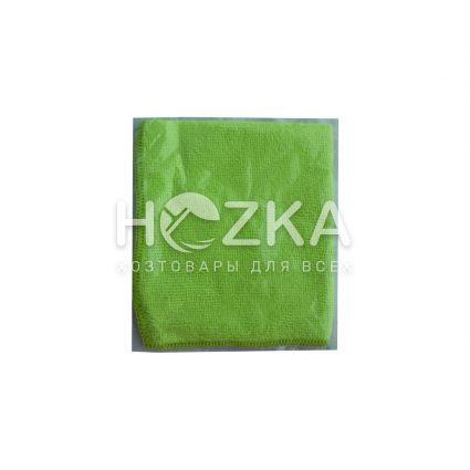 Салфетка микрофибра Сlean Up универс зелёная 30х30 см 1шт - 3