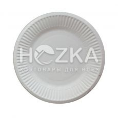 Тарелка бумажная круглая 180 мм 100 шт/упак.