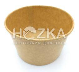 Контейнер суповой бумажный 470 мл Крафт (25 шт/уп)