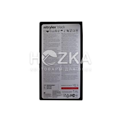 Перчатки NITRILEX одноразовые нитриловые чёрные L 100 шт - 3