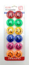 Магниты для доски 30мм 12 шт. цветные