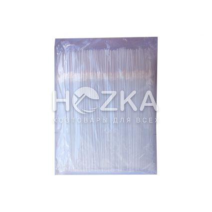 Трубочки с гофром прозрачные 21 см 200 шт - 3