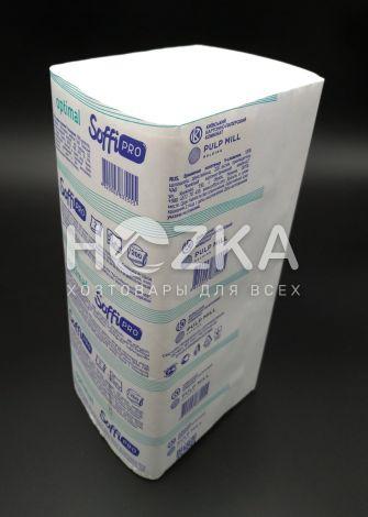 Полотенца бумажные SoffiPRO Optimal V-сл. 2 слоя белые 200 л/пач - 1