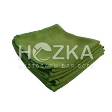 Салфетка микрофибра д/стекла/зеркал зелёная 5 шт