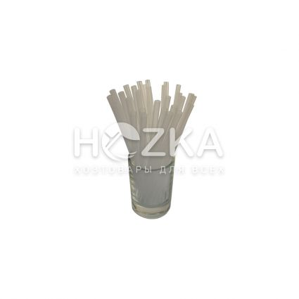 Трубочки прямые прозрачные 12,5 см 200 шт - 2