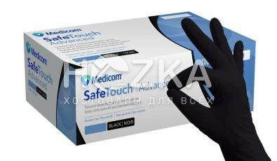 Перчатки нитриловые Safe Touch чёрные L 5.0 г 100 шт