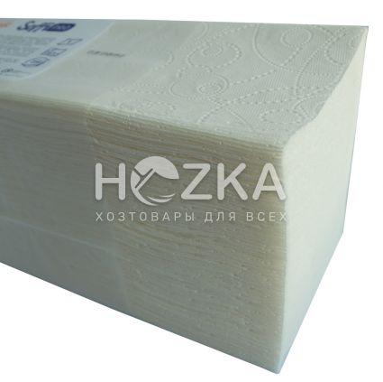 Полотенце бумажное SoffiPRO Basic V-скл.1 слой белые 250л/уп - 2