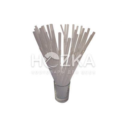 Трубочки гофрированные прозрачные 21 см, d=5 мм, 1000 шт - 2