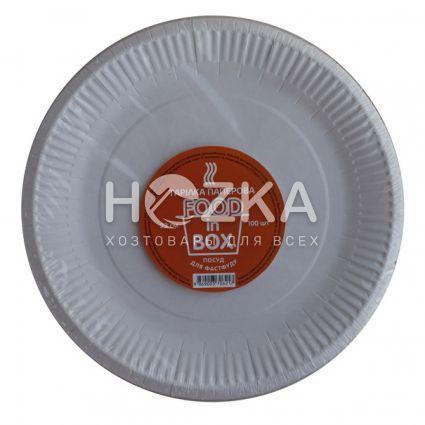 Тарелка бумажная круглая 230 мм 100 шт/уп - 3