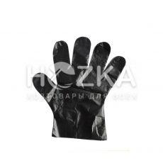 Перчатки ПЕ 100 шт чёрные