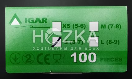 Перчатки IGAR латексные S 100 шт - 4