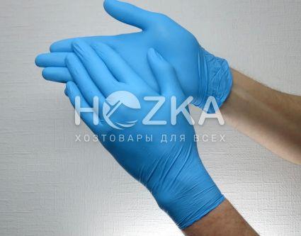 Перчатки нитриловые синие XL 100 шт - 1