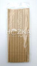 Трубочки бумажные 19,7 см крафт 25 шт