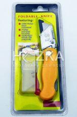 Нож канцелярский, мет. направляющие, 9 мм