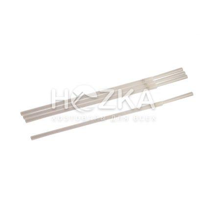 Трубочки с гофром прозрачные 21 см 200 шт - 1