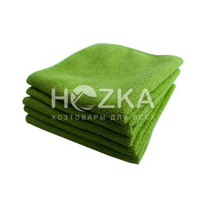 Салфетка микрофибра Сlean Up универс зелёная 30х30 см 5шт - 1