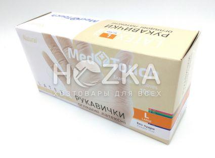 Перчатки MedTouch латексные б/пудры 100шт L - 2