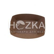 Тарелка Лодочка крафт ЕКО лам 135*105 100 шт/уп