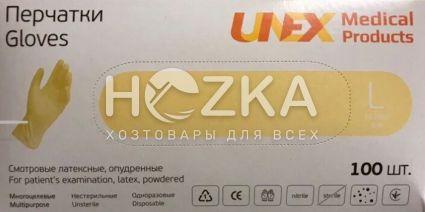 Перчатки латексные UNEX 100 шт. L - 1