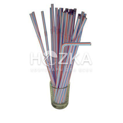 Трубочки гофрированные полосатые 21 см, d=5 мм, 200 шт - 2