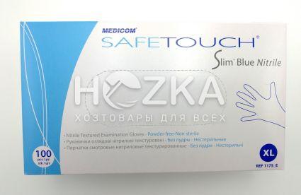 Перчатки нитриловые синие XL 100 шт - 2