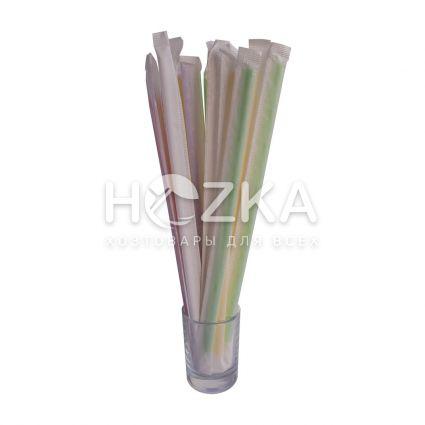 Трубочки Ассорти прямые в инд/уп 21 см 200 шт - 2