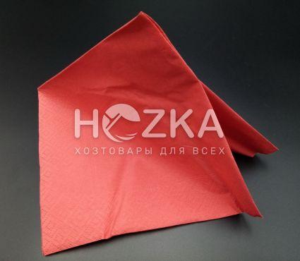 Салфетки 33*33 2 слоя красные 200 шт - 5