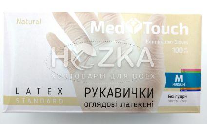 Перчатки MedTouch латексные б/пудры 100шт M - 1