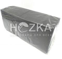 Салфетки 33*33 2 слоя чёрные 200 шт
